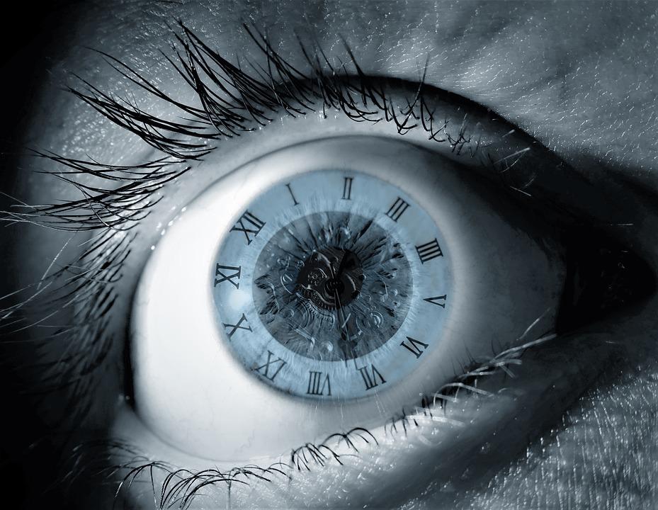 Watch, Time, Clock, Eye, Fantasy, Blue, Human