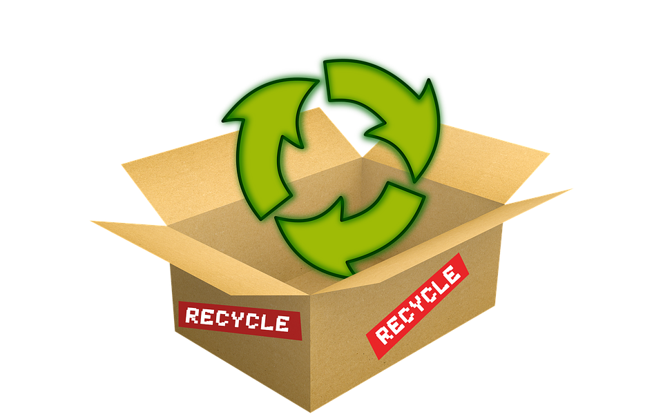 発送箱, リサイクル, パッケージ, 段ボール