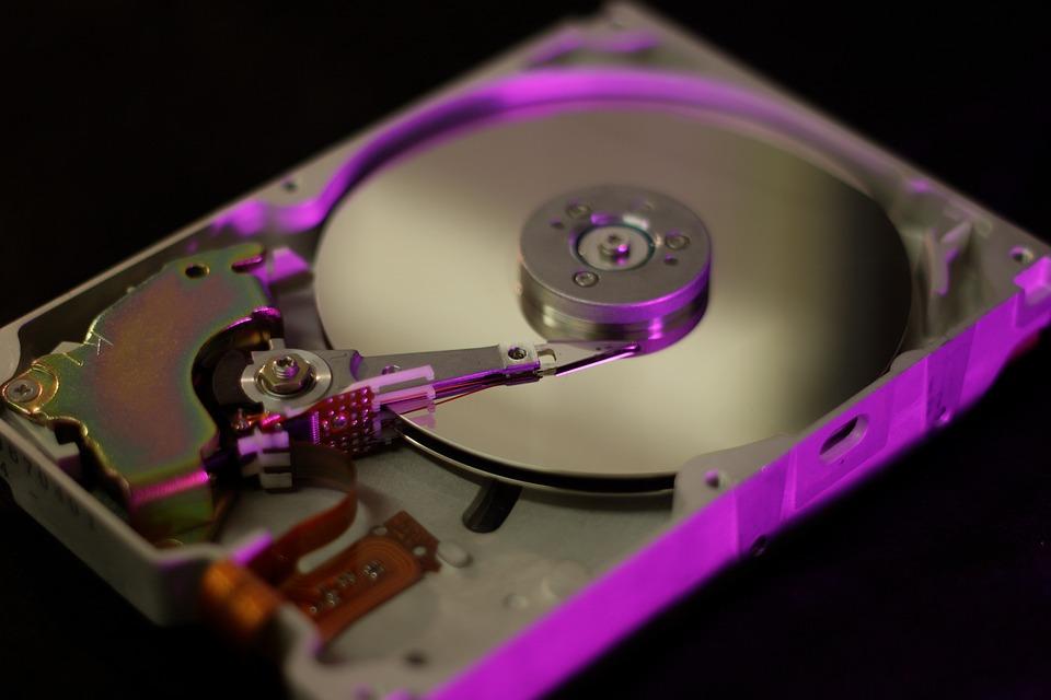 Hard disc interior