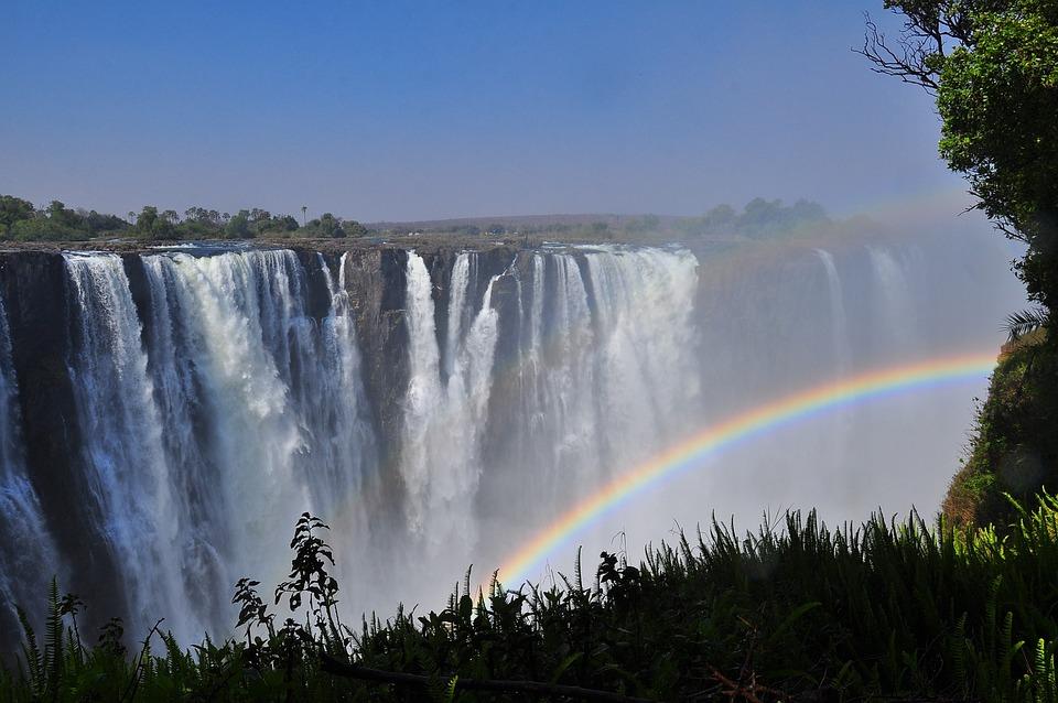 Arco Iris, Cascada, El Agua, Paisaje, Naturaleza