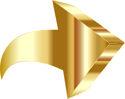 A golden directional arrow to the right pointing slightly upwards