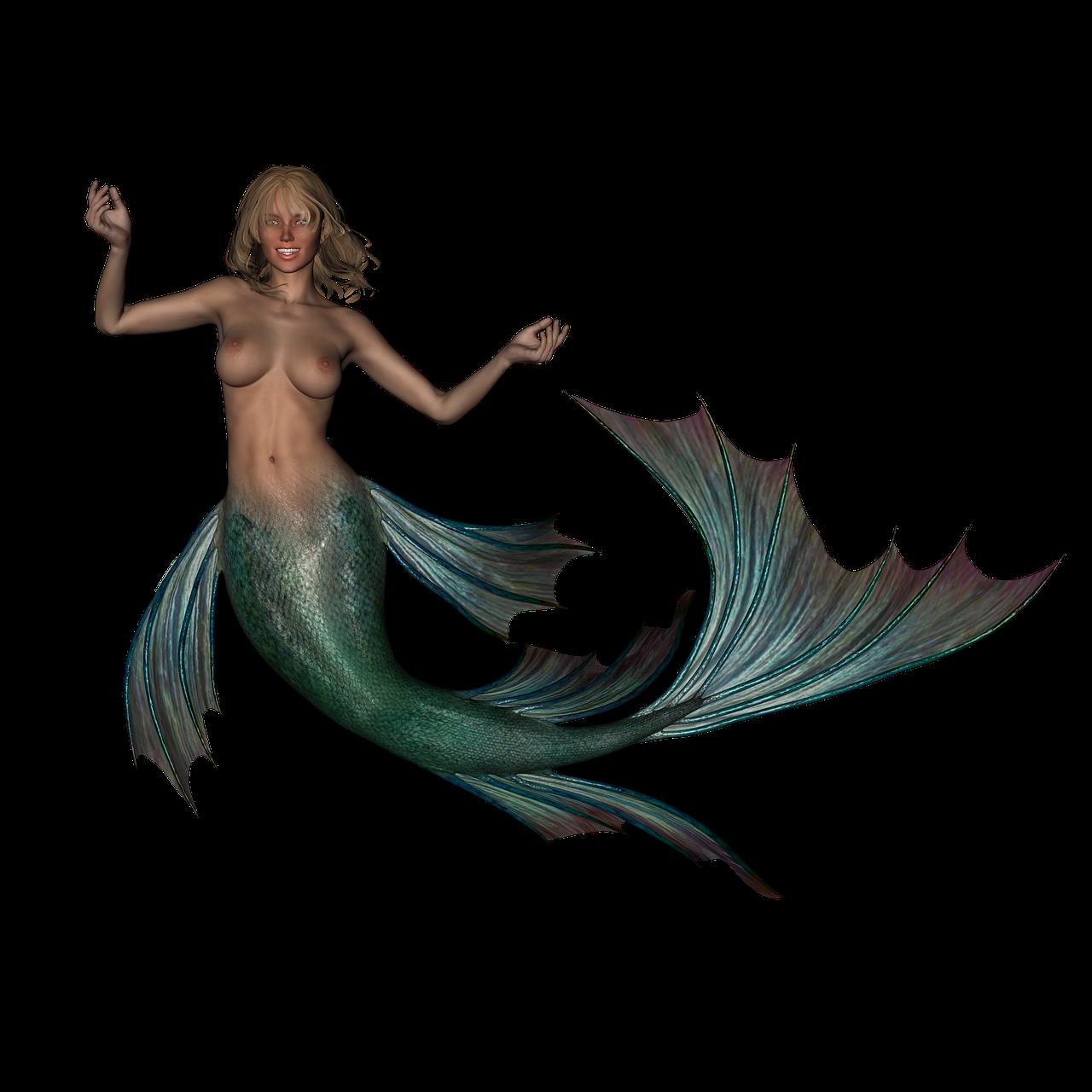 Nude mermaid art mermaid print nautical themed coral