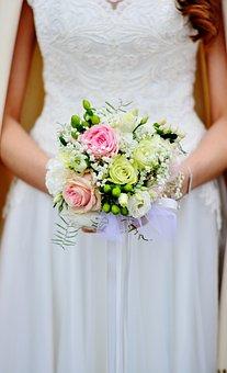 Bridal Bouquet, Bouquet, Wedding, Bride