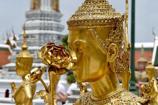 De Oro, Buda, Wat, Templo, Adorno