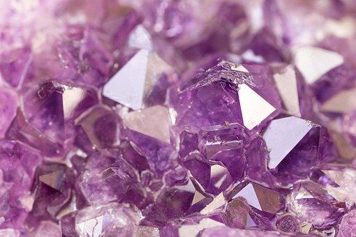 宝石, 結晶, アメジスト, 結石, 石英, 自然, バイオレット, 明るい