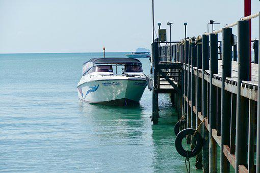 Waters, Sea, Boat, Travel, Sky, Pier
