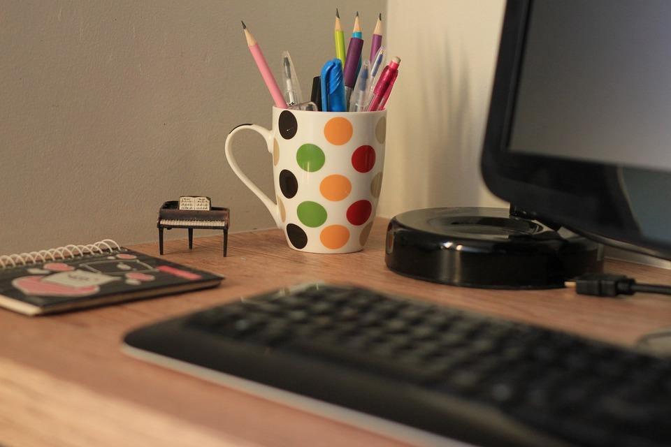 Laptop, Computador, Escritório, Teclado Eletrônico