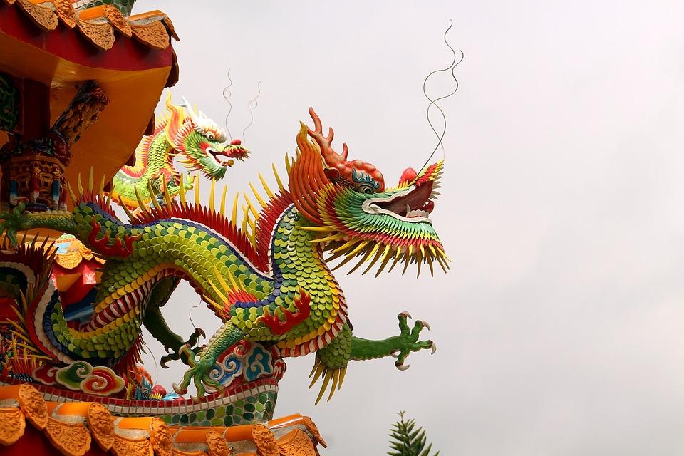 Smok, Tajwan, Chińska Świątynia, Świątynia, Hualien