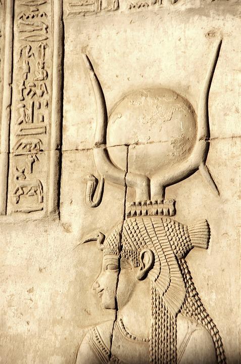 Egypte, Assouan, Philae, Temple, Déesse, Isis, Gravure