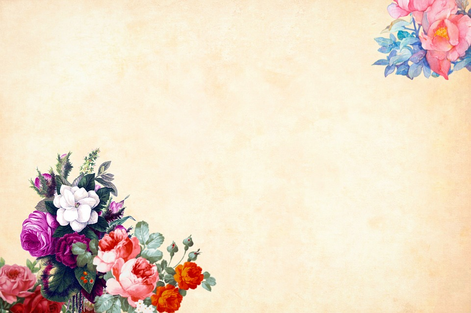 Flower background watercolor free image on pixabay - Floral background ...