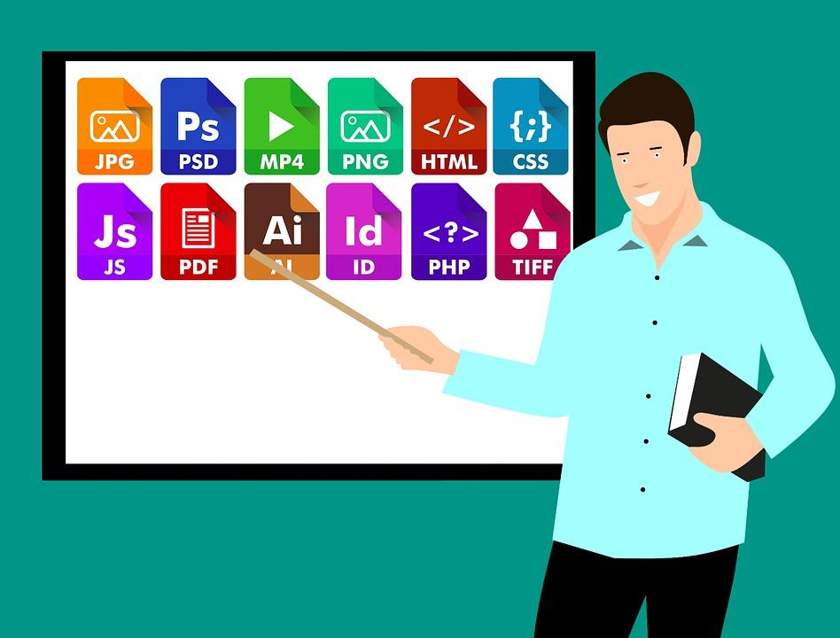 Icône, Fichier, Extension, Document, Symbole, Ensemble