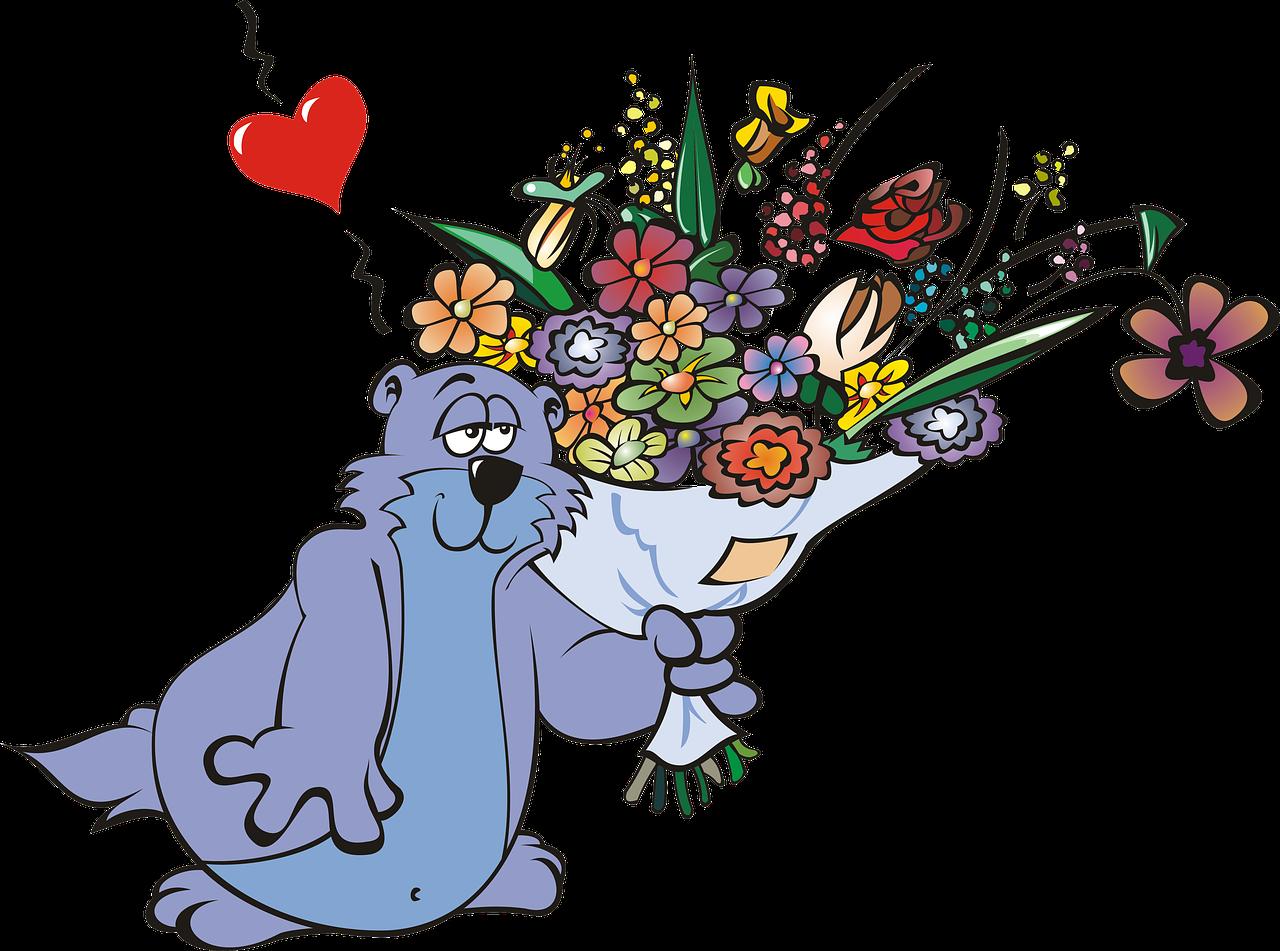 картинки с букетами цветов мультяшные ажурных схем