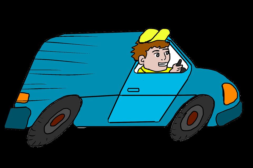 배달 트럭, 익스프레스, 빨리, 배달 서비스, 트럭, 남자, 차량, 속도, 가속, 배달 밴, 반