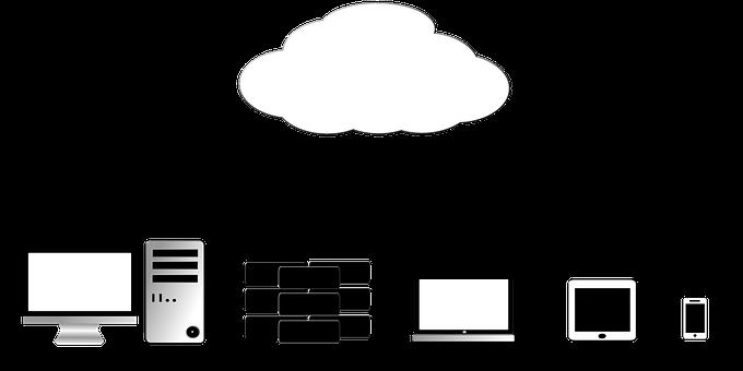Nuvem, Armazenamento, Telefone, Móveis