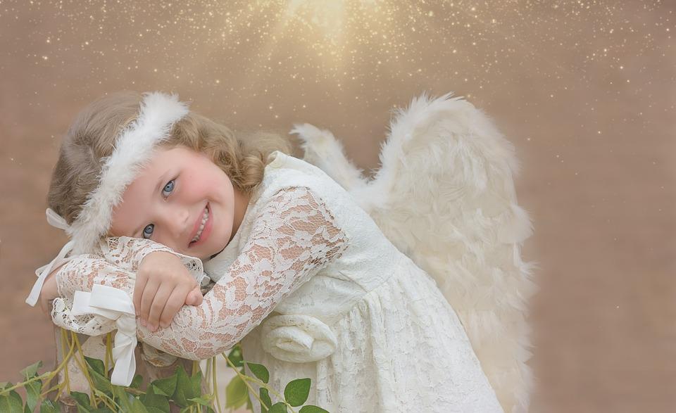 光, 太陽, 輝き, 天使, 天使の女の子, ファンタジー, 肖像画, 女の子, 日光, 茶色の太陽