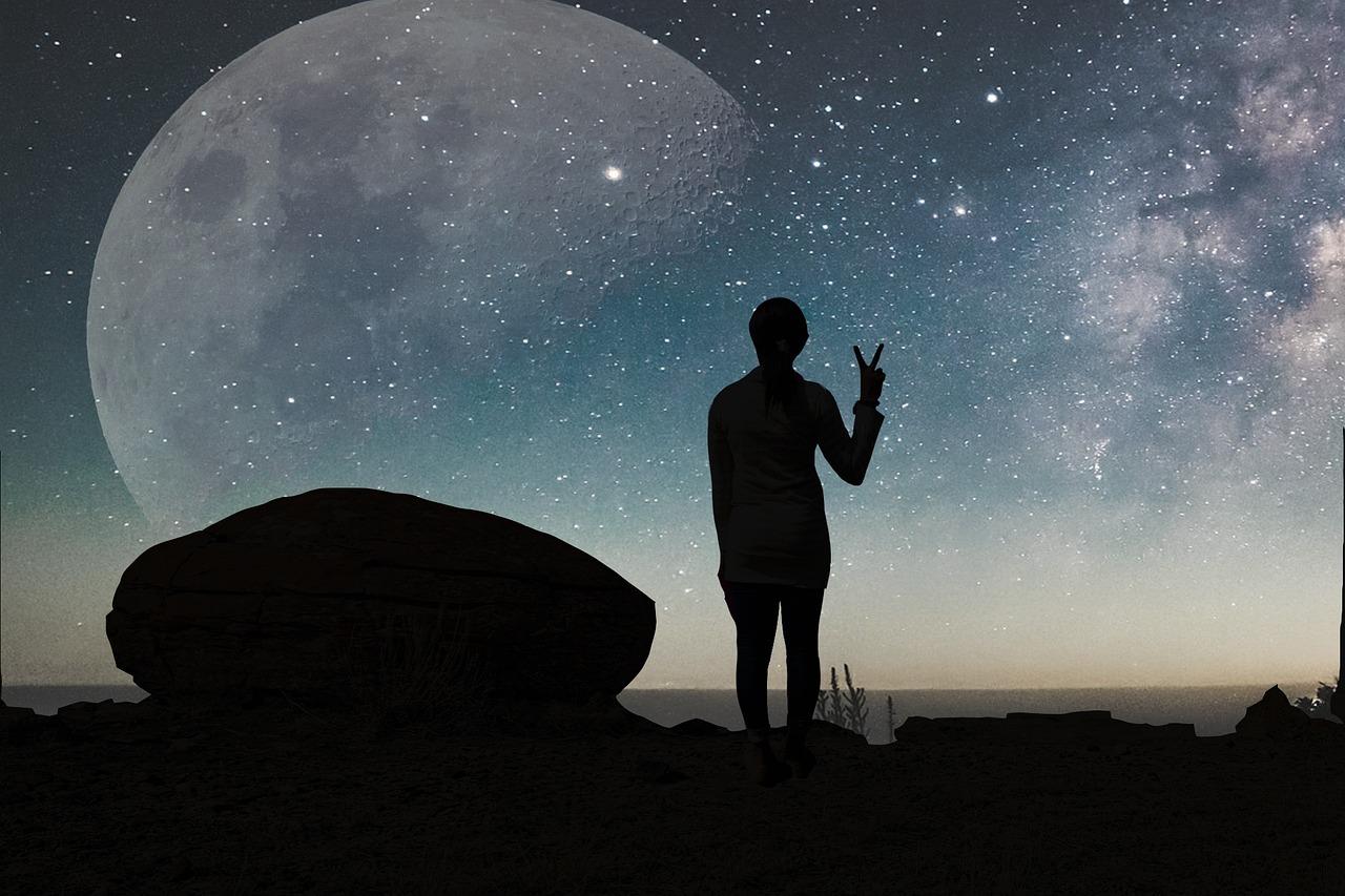 города луна человек фото картинка поля ответили тремя