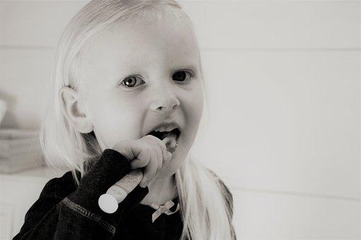 Dziewczyna, Ząb, Mycie Zębów