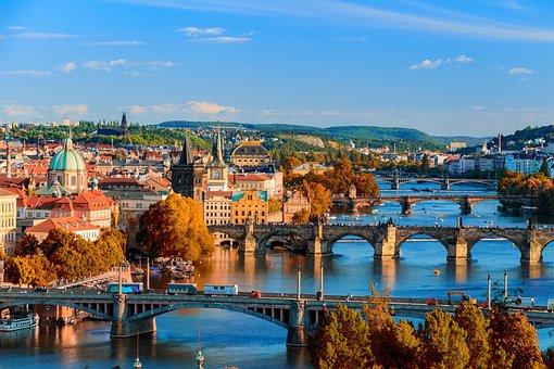 Ponts, Prague, République Tchèque, L'Eau