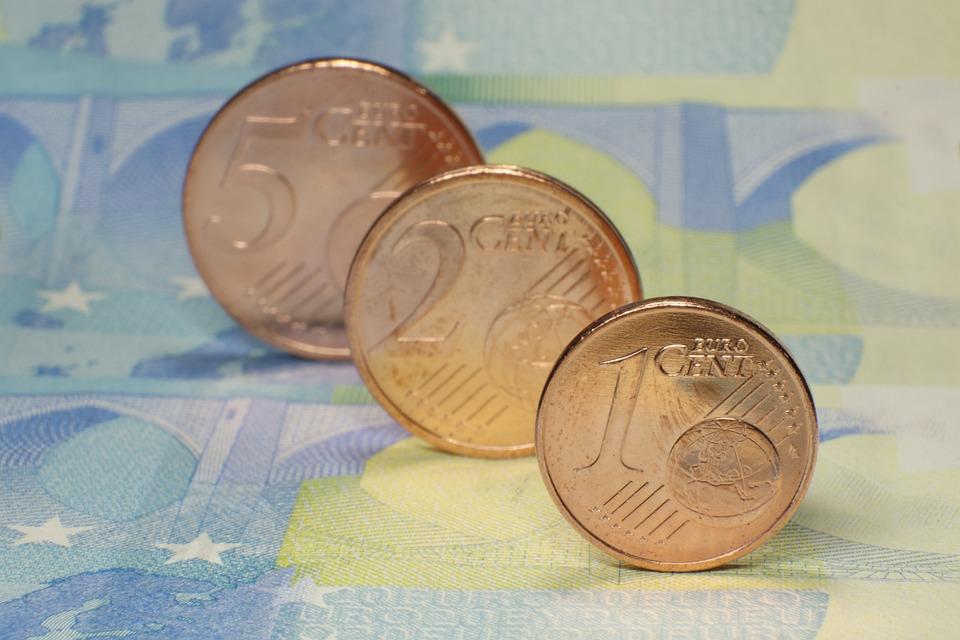Euro, Cent, Coins, Metal Money, Specie, Euro Cent