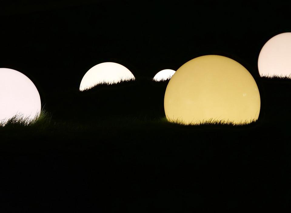 Bright Light Ball Darkness Dark At Night Lamps