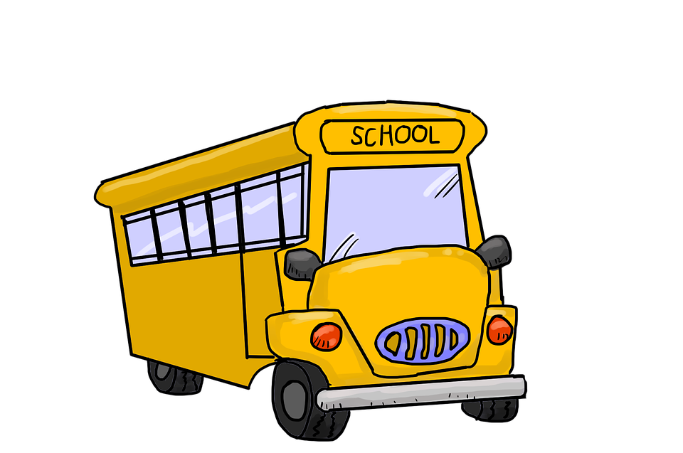 School Bus, Bus, Yellow, Coach, Vehicle, Motor, Cartoon