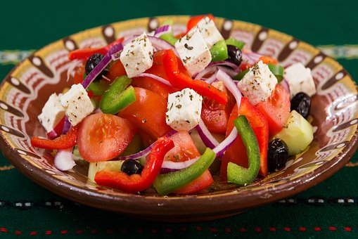 Food, Plate, Greek Salad, Caprese, Meal