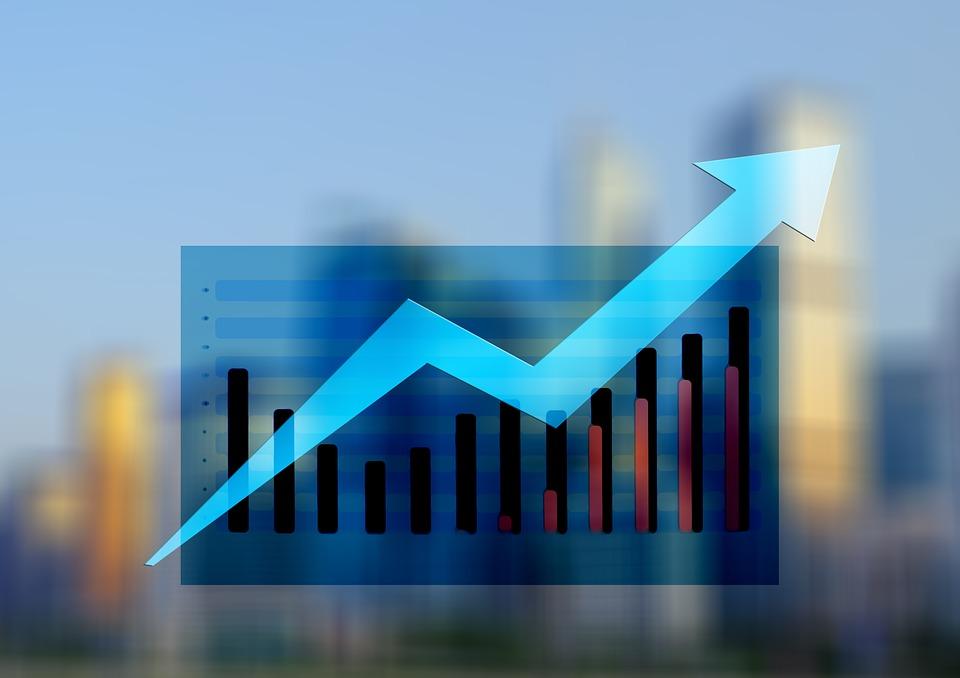 Statistics, Arrows, Trend, Economy, Business, Finance