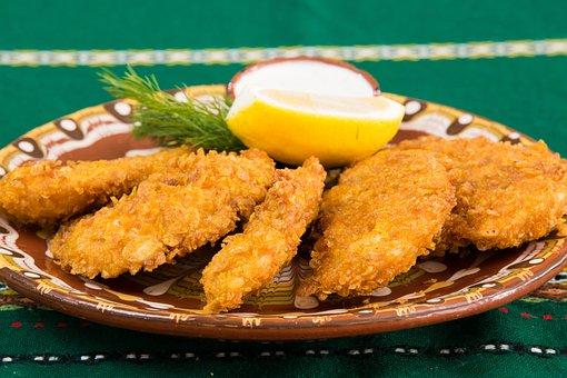Makanan, Restoran, Ayam Goreng, Piring