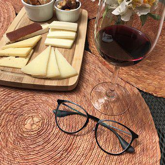 Wine, Alcoholic Drink, Cheese, Glasses