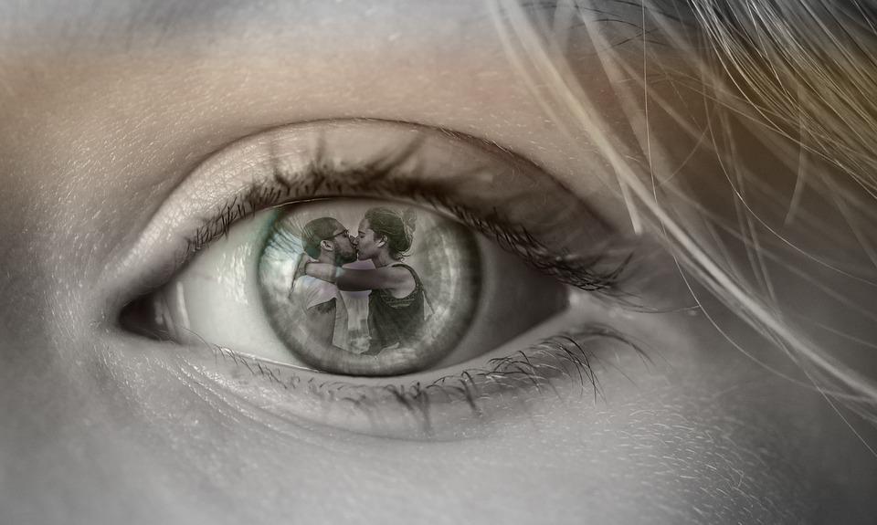 Oko, Para, Miłość, Zdrada, Pragnienie, Vista, Photoshop