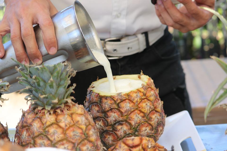 Cibo, Ananas, Cocktail, Barista, Frutta, Esotici