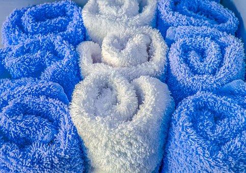 Wol, Fluffy, Handdoek, Katoen, Patroon