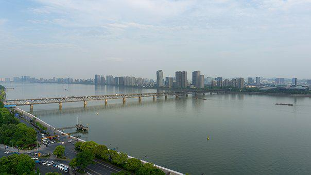 Waters, A Bird'S Eye View, City, River