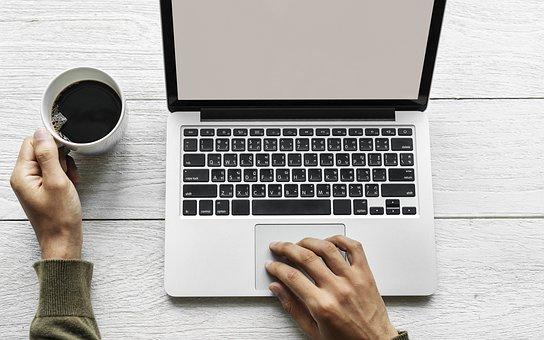 Laptop, Sem Fio, Escritório, Negócios