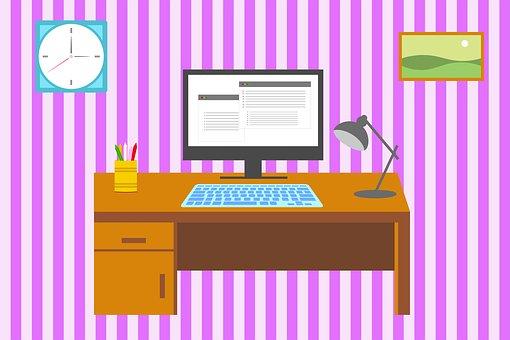 Escritório Em Casa, Espaço De Trabalho