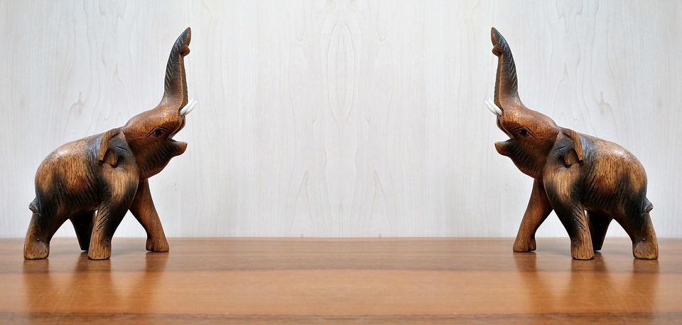 Two 2 Elephants Wallpaper Background Desktop Wood