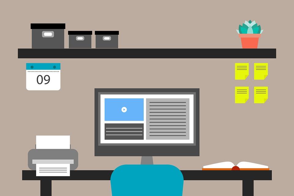 Web bureau kantoor flat · gratis afbeelding op pixabay