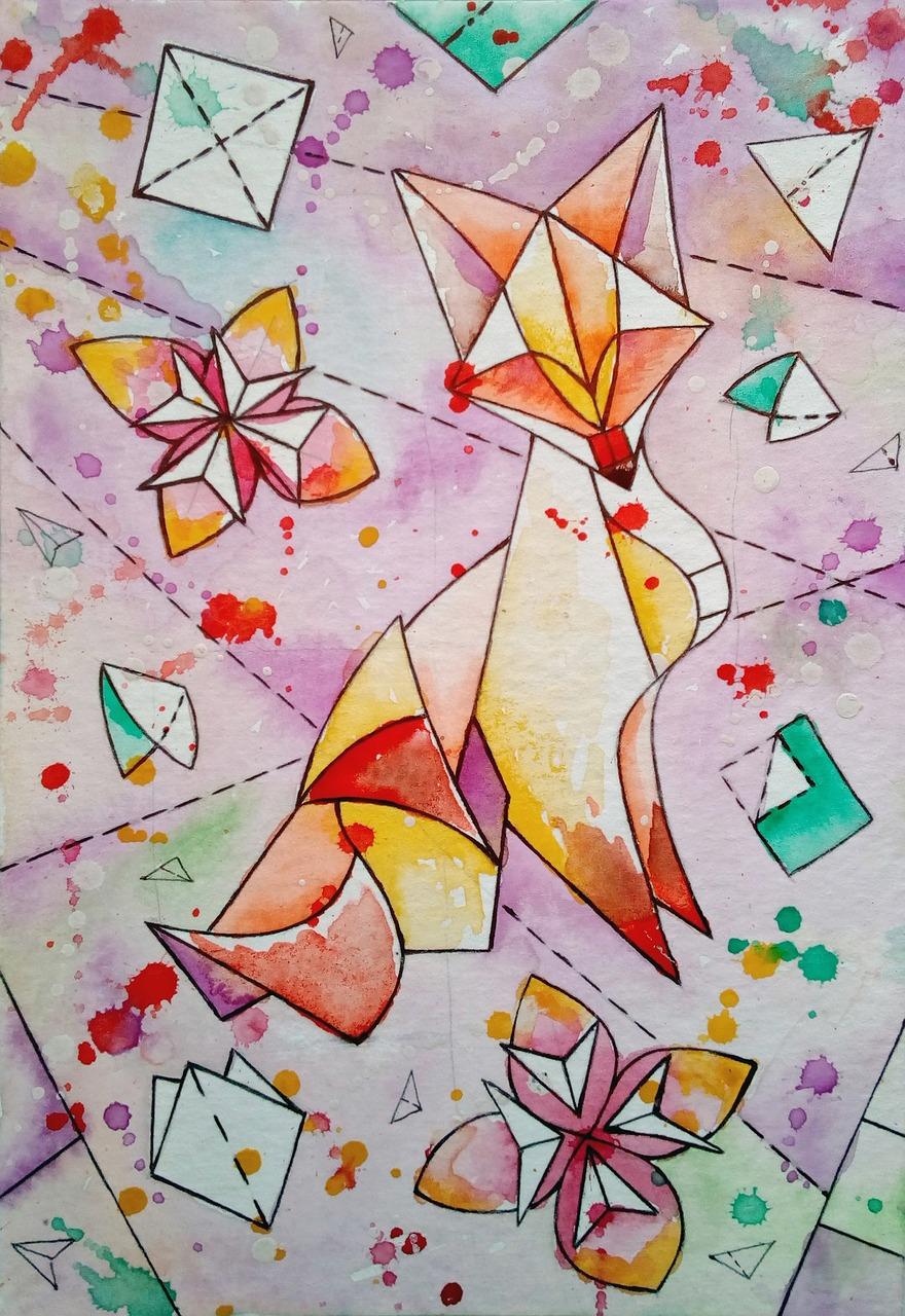грудь рисунок с оригами пассажирских самолетов истории