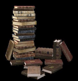 Livre, Pile De Livre, Empilés, Livres