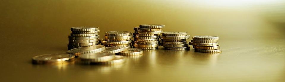 黄金の, コイン, ルース ・ チェンジ, ユーロセント, 通貨, 金属, 富, 金融, 貯蓄, 投資, お金