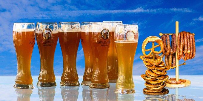 食べる, ドリンク, ビール, プレミアムビア グラス, 小麦ビール, 小麦