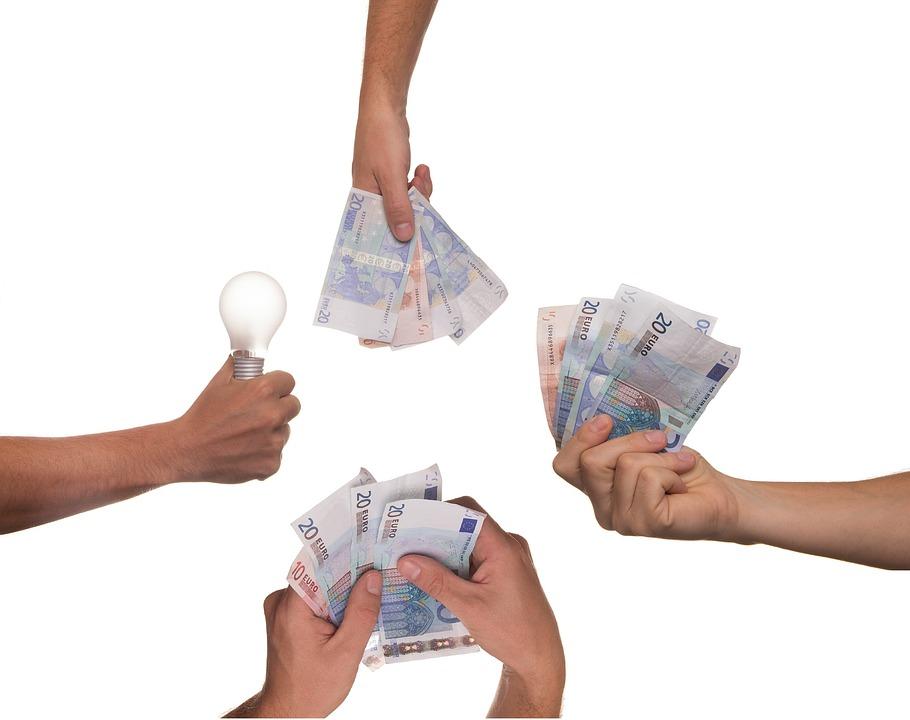 Le Crowdfunding, Idée, Ampoule, L'Argent, Projet