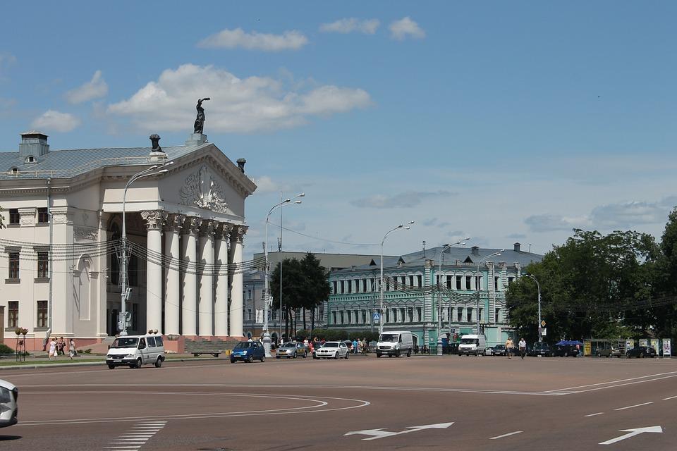 Homel, Białoruś, Architektura, Budynek, Podróż
