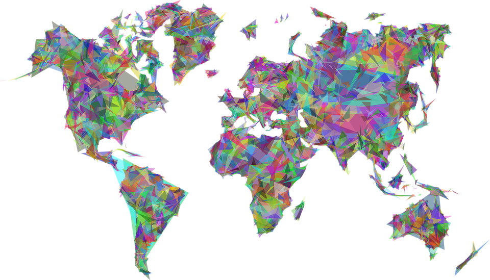 World map earth free vector graphic on pixabay world map earth abstract geometric art borders gumiabroncs Image collections