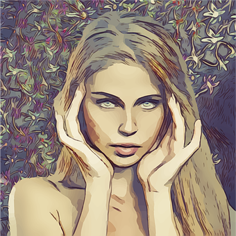 Headache, Pretty, Blonde, Woman, Female