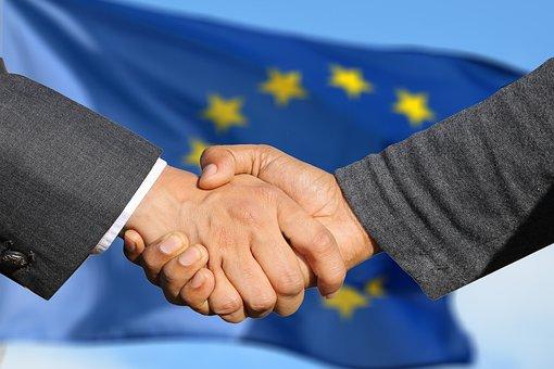 ヨーロッパ, 手, 友情, 一緒, 男, 女性, 人間, 大陸, 世界
