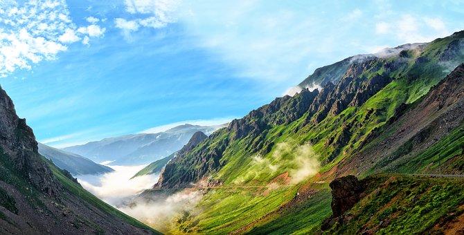 Montaña, Naturaleza, Panorámico, Cielo