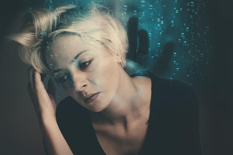 Donna, Preoccupato, Incubo, Stress, Ha Sottolineato