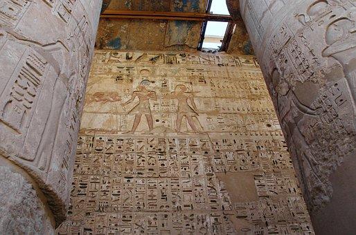 Egipto, Tebas, Medinet-Habu, Templo