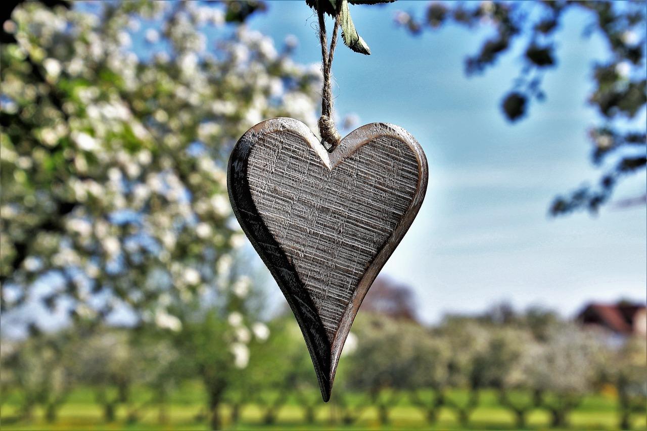 Весеннее сердечко картинка